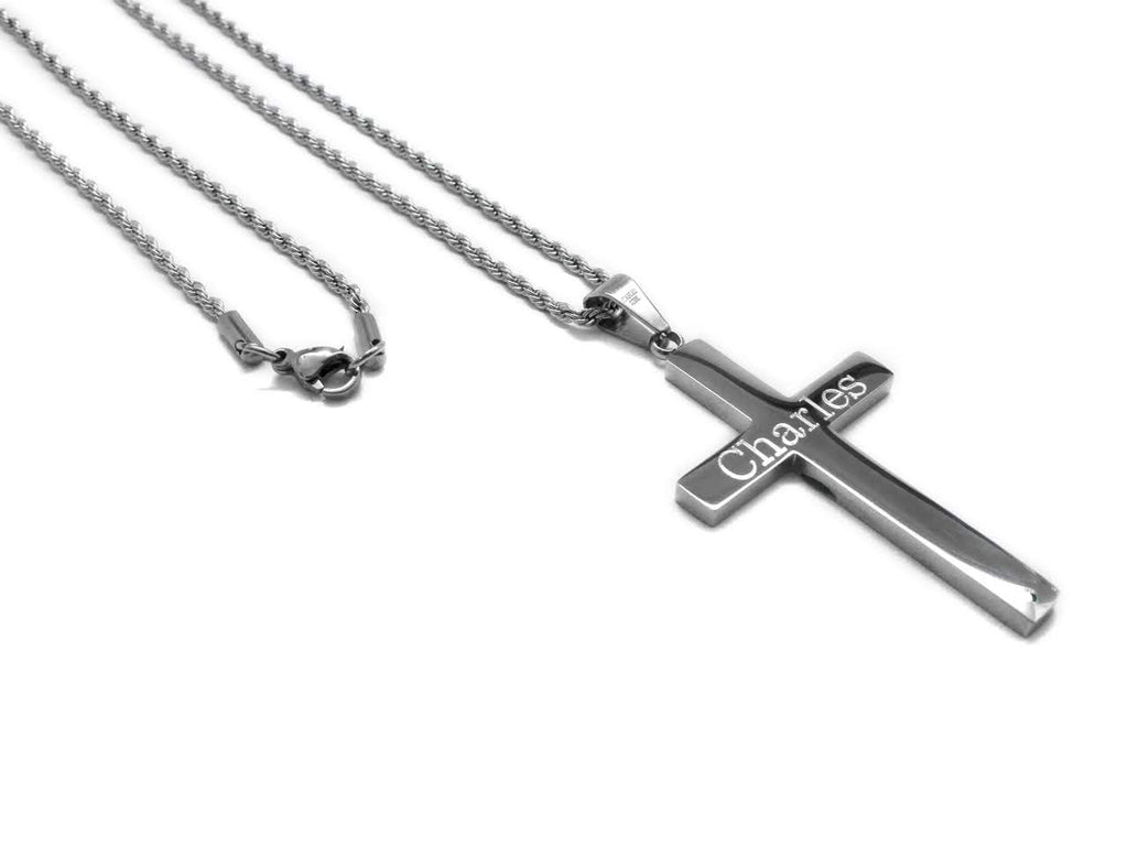 Stainless Steel Cross Necklace - Allyanna Gifts