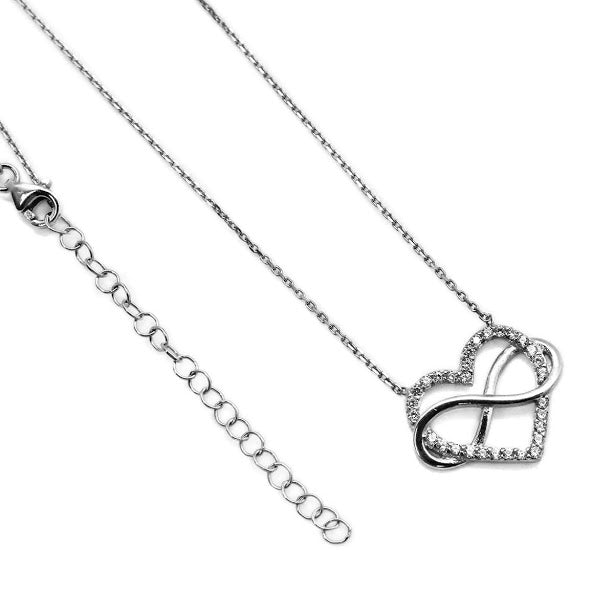 Infinity Heart CZ Necklace - Allyanna Gifts