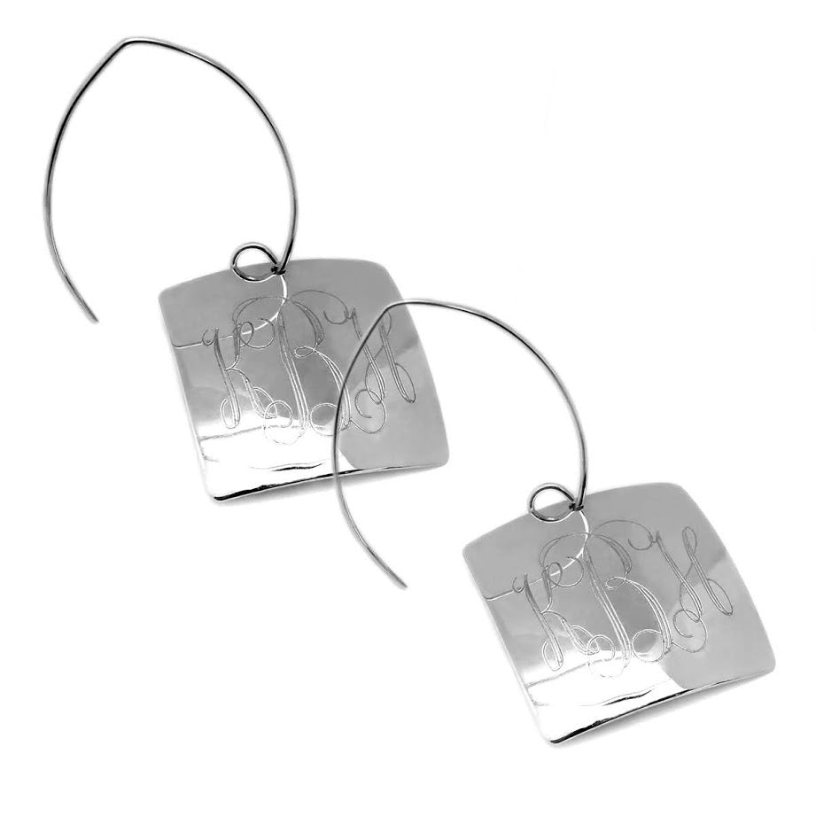 Trendy Square German Silver Earrings
