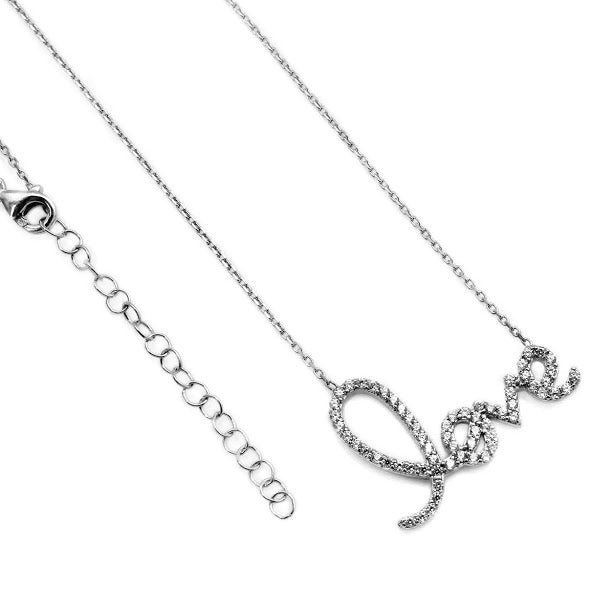 "Dainty ""Love"" CZ Necklace - Allyanna Gifts"