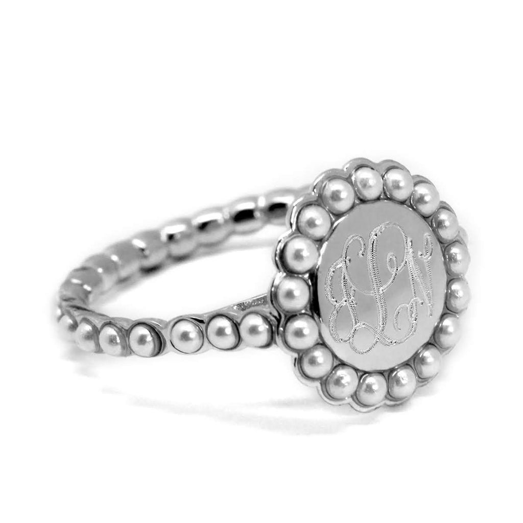 Betty Monogrammed Ring