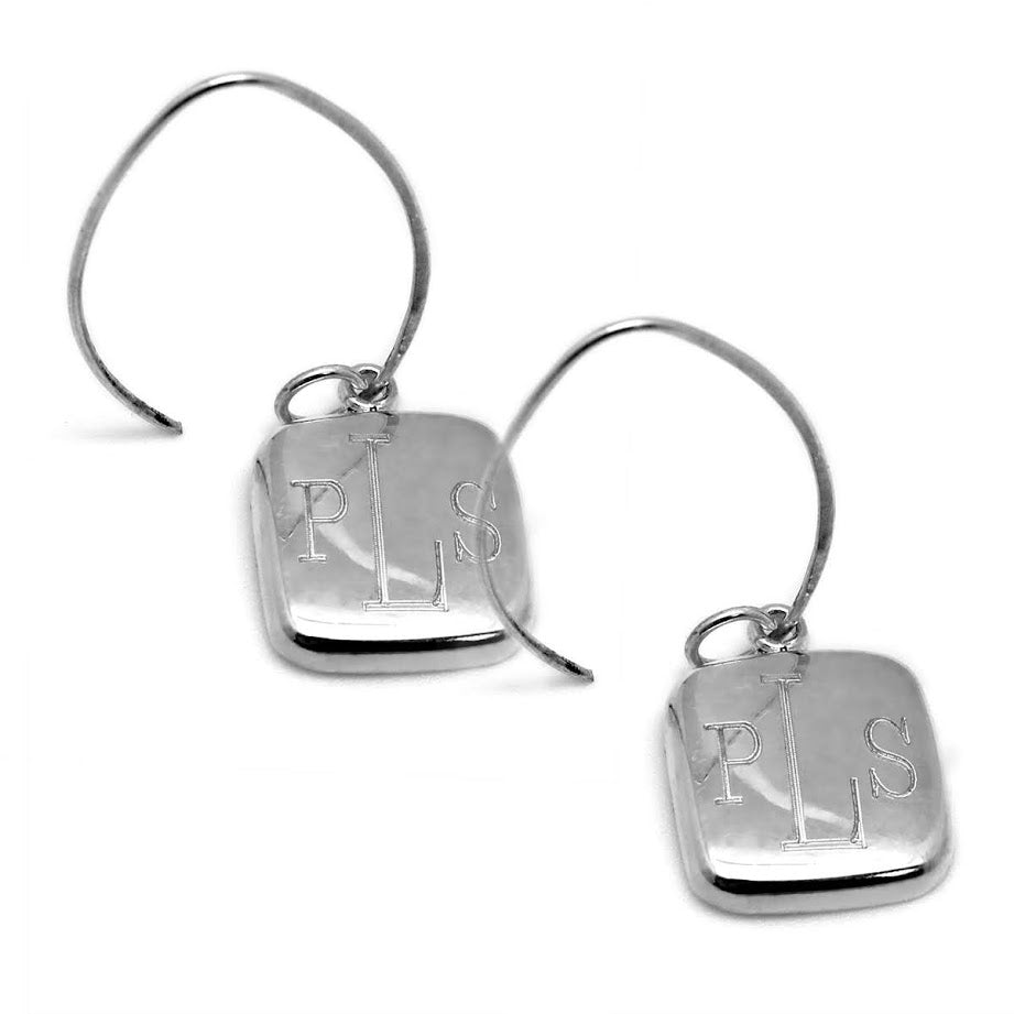 Classic Square German Silver Earrings