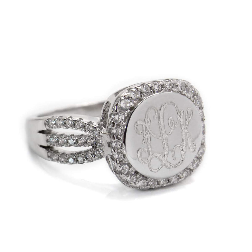 Sterling Silver CZ Ali Ring