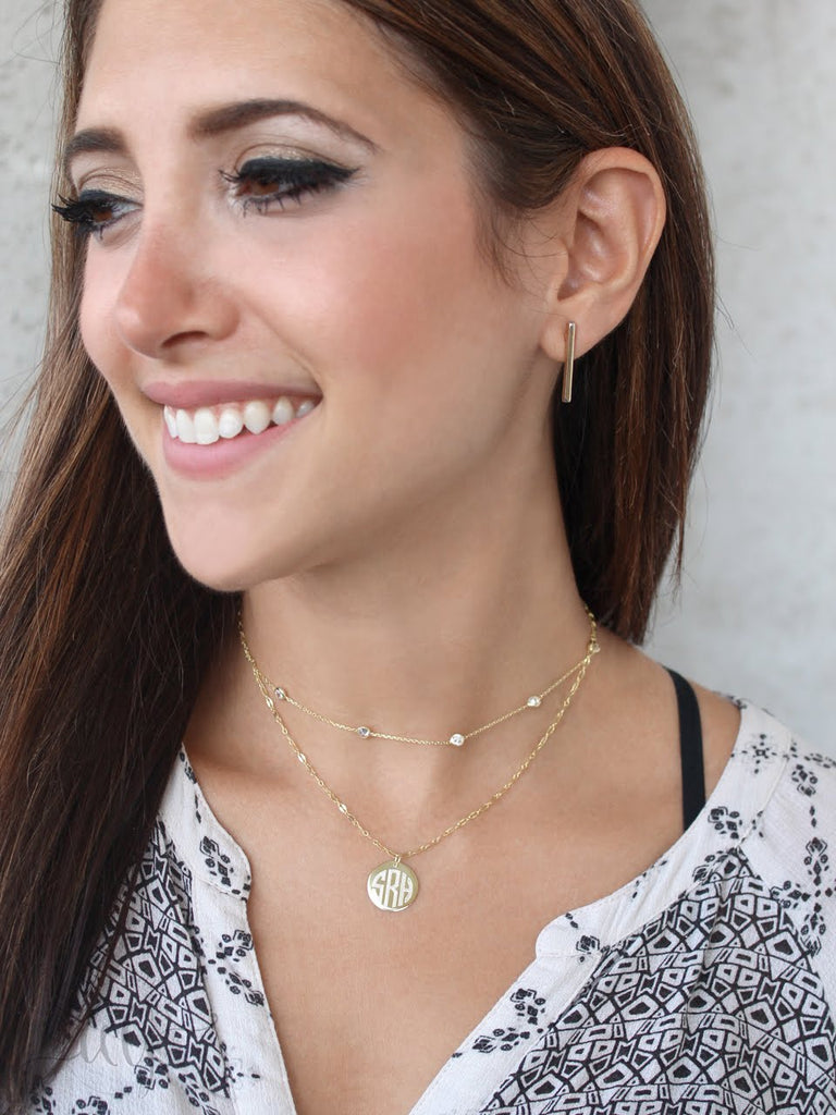 Sterling Silver CZ Layered Necklace - Allyanna Gifts