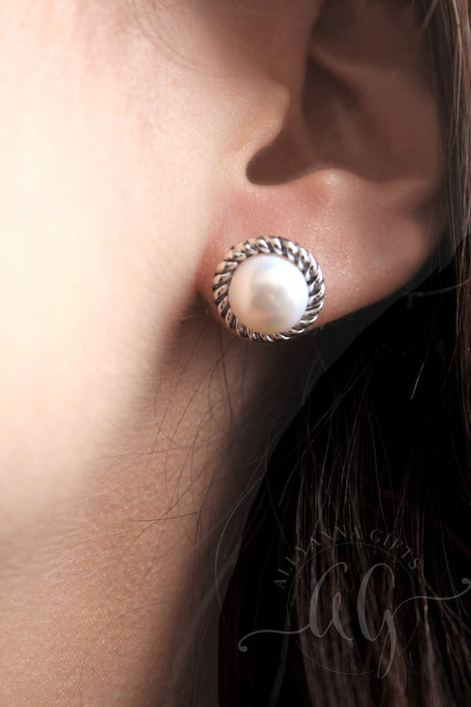 Sterling Silver Pearl Rope Earrings - Allyanna Gifts