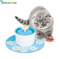 Automatic Pet Feeder Electric Fountain Bowl