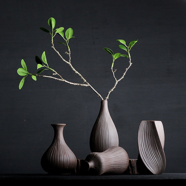 Classical Coarse Pottery Ceramic Vases Tabletop Vases