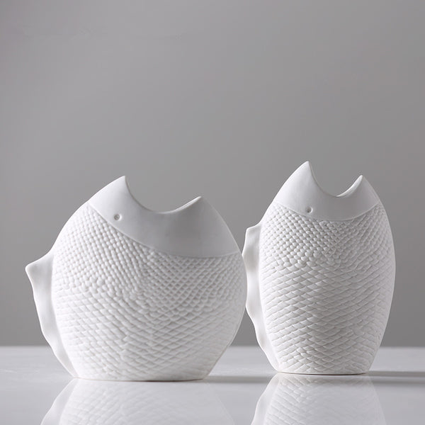 Fish Shape Elegant Tabletop Vases