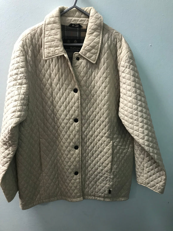 Barbour size 20 coat jacket cream quilted style
