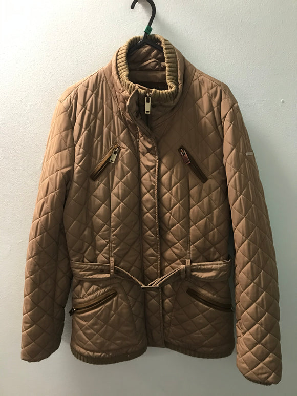 Esprit size 12 coat jacket beige quilted style