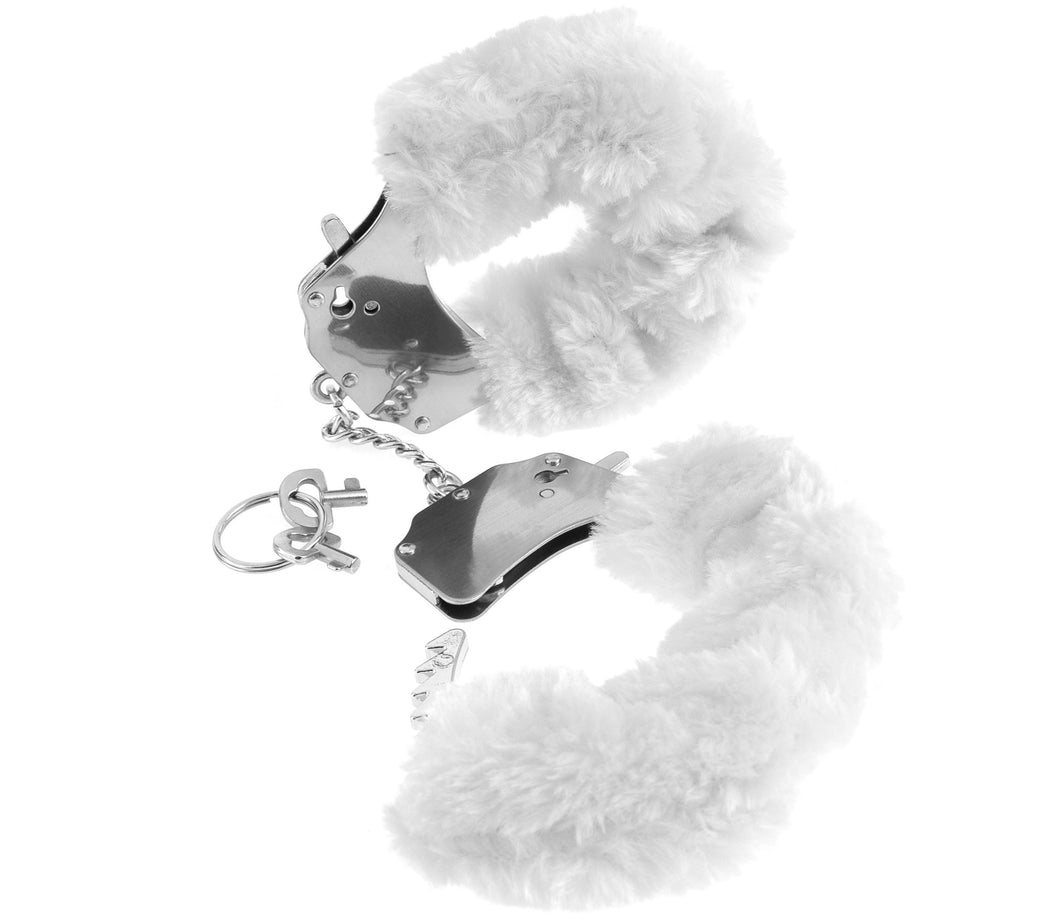 Fetish Fantasy Series Furry Cuffs - White PD3804-19