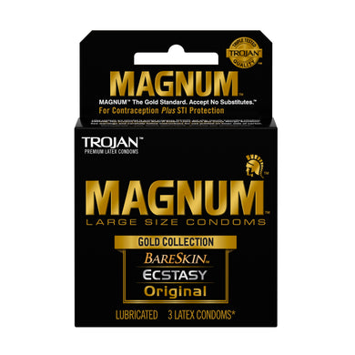 Trojan Magnum Large Size Gold Collection Condoms - 3 Pack TJ01987