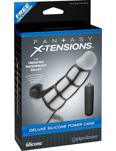 Fantasy X-Tensions Deluxe Silicone Power Cage  - Black PD4142-23
