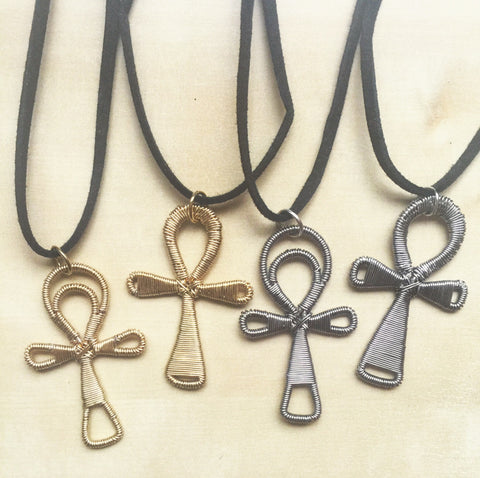 Wirewrap Ankh Necklace