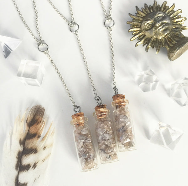 Divinity | Topaz Bottle Necklace