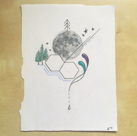 Lunar Growth | Original Drawing