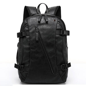 External USB Charge High Quality Practical PU Leather Mens Backpack Famous Brand School Travel Backpack Vintage Men Business-Backpack-smartbackpac