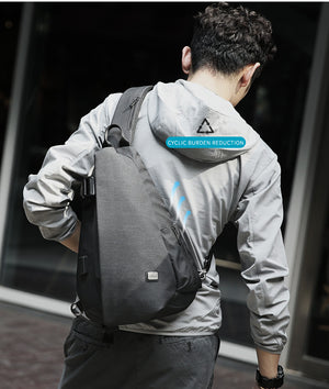 Mark Ryden New Arrivals USB Design High Capacity Chest bag Men Crossbody Bag suit for 9.7 inch Pad Water Repellent Shoulder Bag-Backpack-smartbackpac