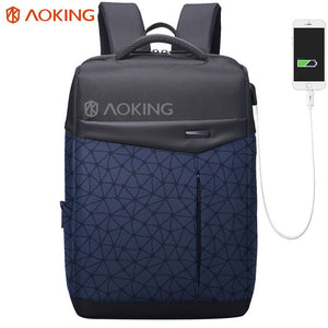 Aoking Waterproof Men Backpack with Anti thief Pocket USB Charging College Students Bag Laptop Backpack Urban Fashion school bag-Backpack-smartbackpac