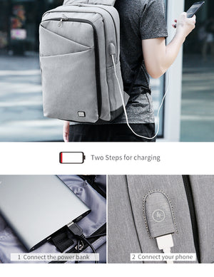 MARK RYDEN New Backpack Men Backpack High Capacity Bag for Travel USB Charging Bag 15.6inch Laptop Backpack for College Students-Backpack-smartbackpac