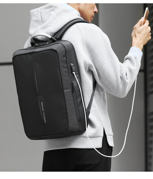 2018 Mark Ryden New Anti-thief USB Recharging Men Backpack NO Key TSA Lock Design Men Business Fashion Message Backpack Travel-Backpack-smartbackpac