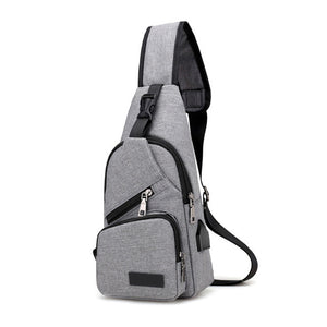 Fashion Men Shoulder Bag USB Charge Anti Theft Security Waterproof Travel Man Crossbody Messenger Casual Bag BS88-Backpack-smartbackpac