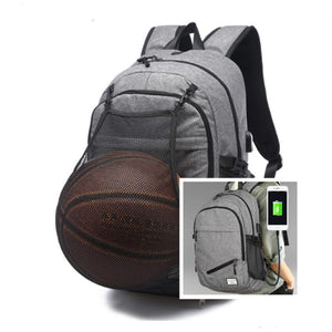 New Shoulder Bag Can Hold Balls Functional Laptop Backpack USB Charging Business Travel Backpack School Bags For Teenagers-Backpack-smartbackpac