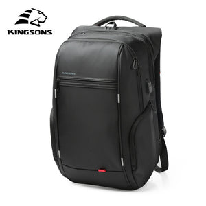 Kingsons 13 Inch External USB Charging Men's Backpack for Computer Bag Women Backpacks Waterproof Anti-theft School Bag-Backpack-smartbackpac
