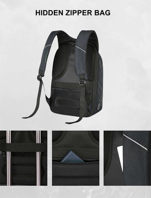 Ocardian Brand Men USB Charge Laptop Backpack Minimalist Fashion Anti-theft Backpack 3#1030-Backpack-smartbackpac