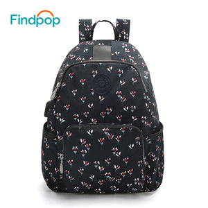 Findpop USB Charging Backpack Women Nylon Waterproof Anti-theft Backpack Bags For Women 2018 New Design Floral Printing Backpack-Backpack-smartbackpac
