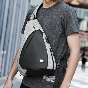 Mark Ryden 2018 New Arrival USB Recharging Chest Bag Men Messenger bag Fashion Sling Bag Multi-functional Crossbody Bag-Backpack-smartbackpac