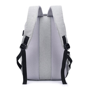 MAGIC UNION Men Laptop Backpack For 15.6 inch USB Charging Backpacks Computer Anti-theft Bags Male Gray Daypack Women Mochila-Backpack-smartbackpac