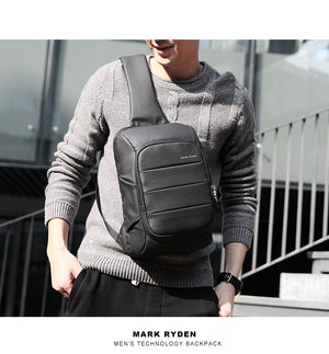 Mark Ryden 2018 New Sling Bag for men USB Charging Shoulder Bag Water Resistant Chest Pack Large Capacity Oxford Crossbody Bag-Backpack-smartbackpac