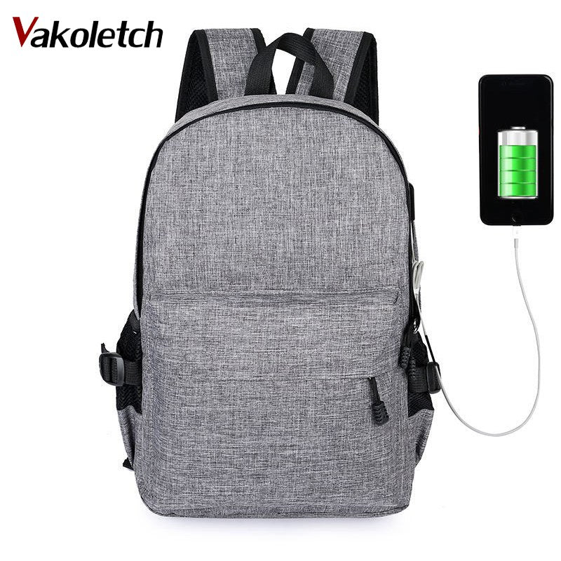 ebd8418a88d 2018 Men Women Backpacks USB Charge Laptop Design Male Travel Backpack For School  Bag Girls Boys