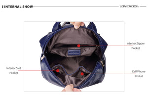 LOVEVOOK backpack women schoolbag for girls teenagers with external USB anti theft backpacks female large high quality bag-Backpack-smartbackpac