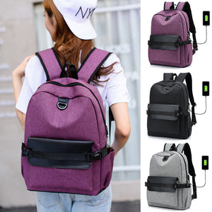 Coofit 2018 New Women Backpack Casual Canvas Laptop Backpacks Girl Black School Rucksack With USB Charging Port Mochila Feminina-Backpack-smartbackpac