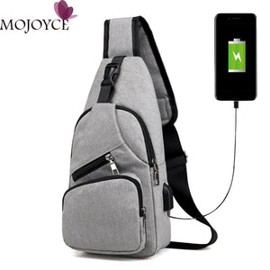Casual Men Chest Pack Canvas USB Charging Crossbody Bags for Men Shoulder Handbag Fashion Travel Cross Body Bag Male Chestbags-Backpack-smartbackpac