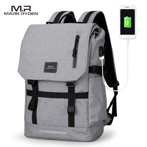 Mark Ryden Large Capacity 15.6 Inch Laptop Bag Man USB Design Backpack Bag Black Backpack women School Bags Mochila Masculina-Backpack-smartbackpac