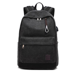 High Capacity Men Women Laptop Backpack Canvas Travel USB Charge Computer Anti-theft Shoulder Bag Casual Rucksack Popular-Backpack-smartbackpac