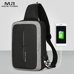 Mark Ryden New Men Crossbody Bag Business Shoulder bag High Capacity Chest Bag USB Recharging Design-Backpack-smartbackpac