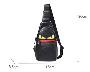 Luminous Sling Shoulder USB Charge Single Strap Chest Bag Crossbody Rope Triangle Pack Rucksack for School Handbag for Man-Backpack-smartbackpac