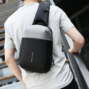 Mark Ryden 2018 Summer Men Crossbody Bag USB Recharging Chest Bag Anti-thief Men Shoulder Bag-Backpack-smartbackpac