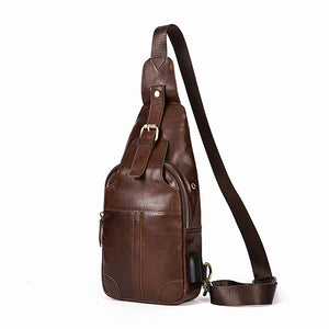 MVA Genuine Leather Bags USB Anti-theft Magnetic Clasp Crossbody Bags Men Shoulder Bag Chest Waist Pack Messenger Bag 8202-Backpack-smartbackpac