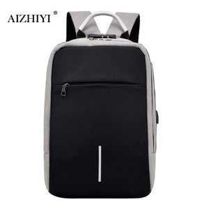 Unisex Laptop Backpacks Anti Theft USB Charging Travel Big Capacity Shoulder Schoolbag Business Solid Fashion Backpacks-Backpack-smartbackpac