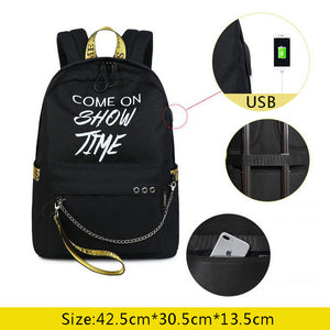 15.6inch Luminous Laptop Backpacks Anti Theft USB Backpack Nylon Travel Backpacks School Bags Waterproof Fashion Colors-Backpack-smartbackpac
