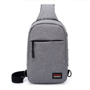 ASDS Men's external USB charging and headphone hole canvas backpack crossbody-Backpack-smartbackpac