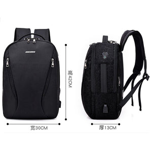 ASDS DINGXINYIZU Neutral Casual Fashion Laptop Bag USB Port and Headphone Jack-Backpack-smartbackpac