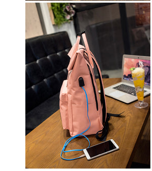 Women Large Capacity Canvas Backpack Multifunctional Shoulder Laptop Backpack USB School Bag Fashion Travel Backpack for Girls-Backpack-smartbackpac