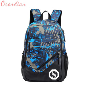 2017 Fashion Men's Backpack Luminous Students School Bags External USB Charge Laptop Backpacks Teenagers Casual Travel Oct25-Backpack-smartbackpac