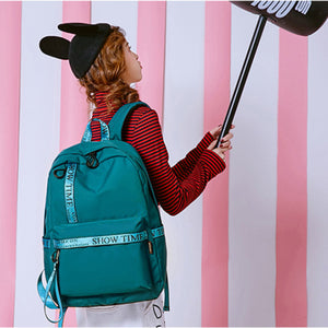 Fashion Solid Laptop Backpack Women USB Charging Polyester Waterproof Shoulder Bag Ladies School Bag Student Casual Travel Bags-Backpack-smartbackpac